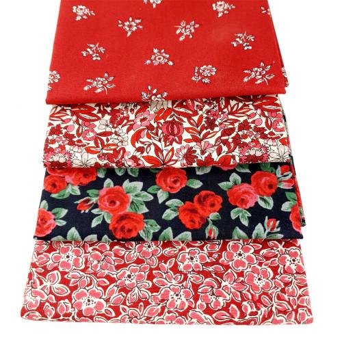 Liberty Cotton 4 x Fat Quarter Bundle Pack #20