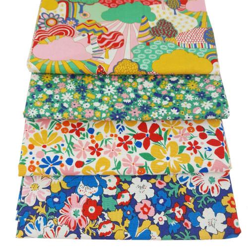 Liberty Cotton 4 x Fat Quarter Bundle Pack #24