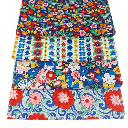 Liberty Cotton 4 x Fat Quarter Bundle Pack #25