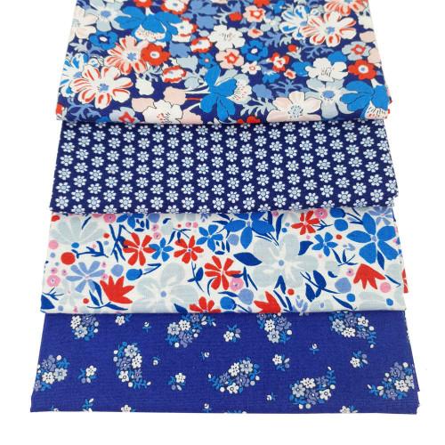 Liberty Cotton 4 x Fat Quarter Bundle Pack #26