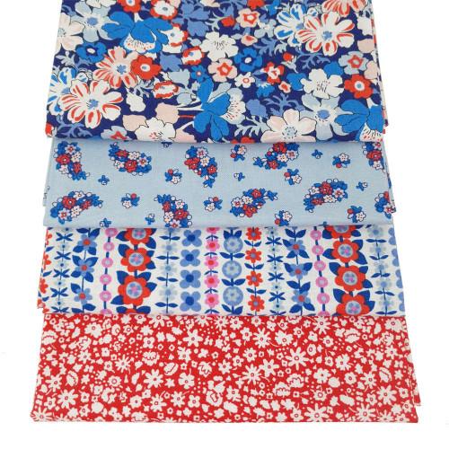 Liberty Cotton 4 x Fat Quarter Bundle Pack #29