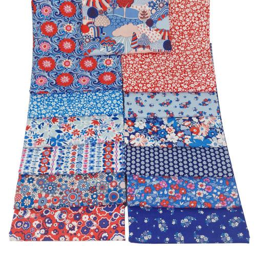 Liberty Cotton Carnaby Cotton Fat Quarter Bundle Pack 13pcs