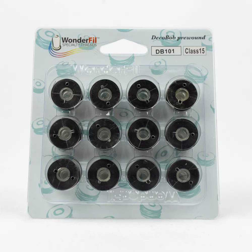 Wonderfil DecoBob Bobbins Class 15 Black Pack