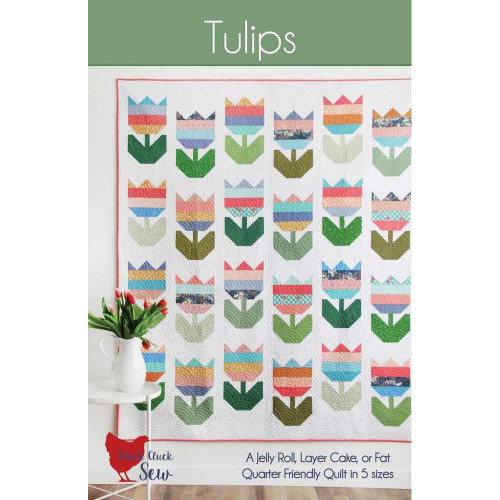 Tulips Quilt Pattern by Cluck Cluck Sew