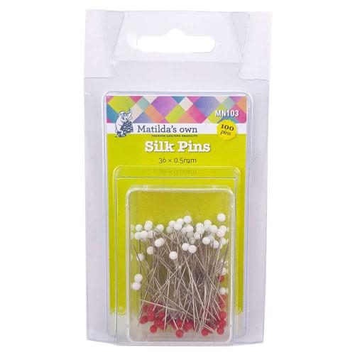 Matildas Own Silk Pins 36x0.5mm 100pk