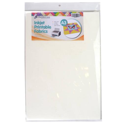 Inkjet Printable Fabric A3  5 sheets Matildas Own