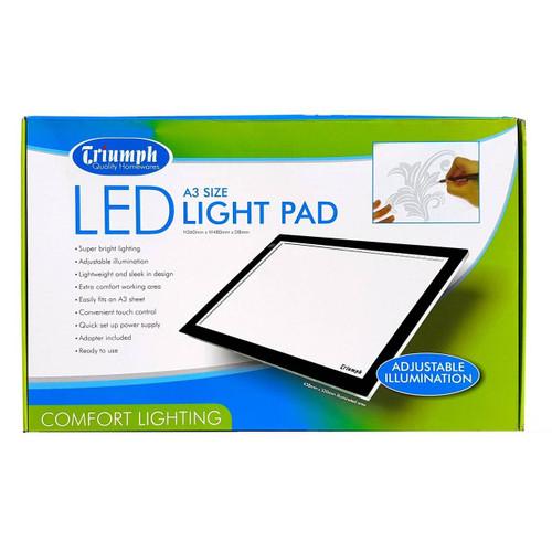 Triumph A3 LED Light Pad Adjustable Illumination 360x480x8mm