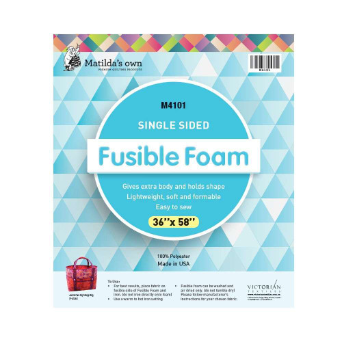 Batting Fusible Single Sided 100% Polyester 36 x 58 Inch