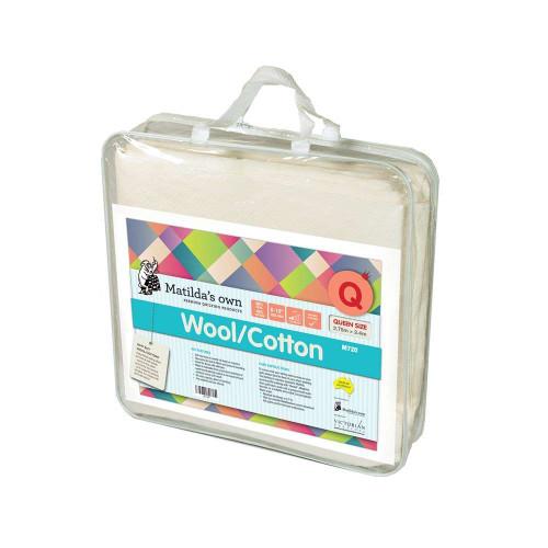 Batting Wool/Cotton Mix Precut Queen Size 2.4m x 2.7m Matildas Own