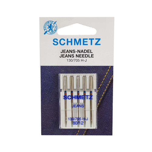Schmetz Jeans Sewing Machine Needles Size 80/12 Pack of 5