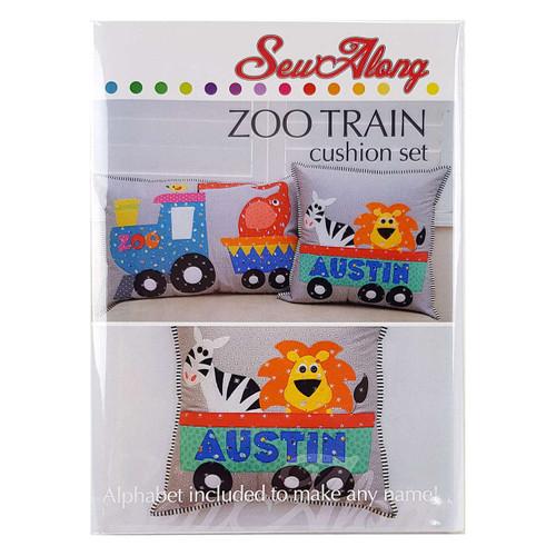 Zoo Train Cushion Pattern Set by Sew Along