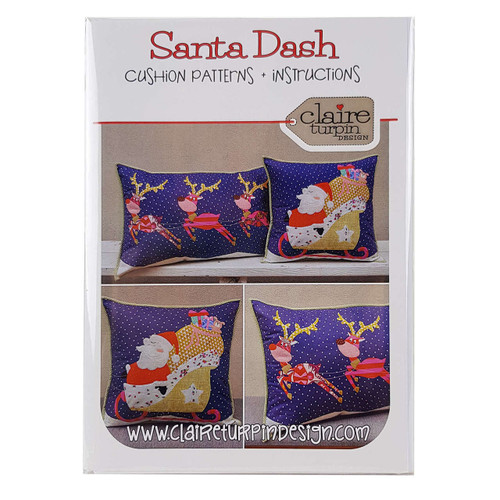 Santa Dash Cushion Patterns by Claire Turpin Design
