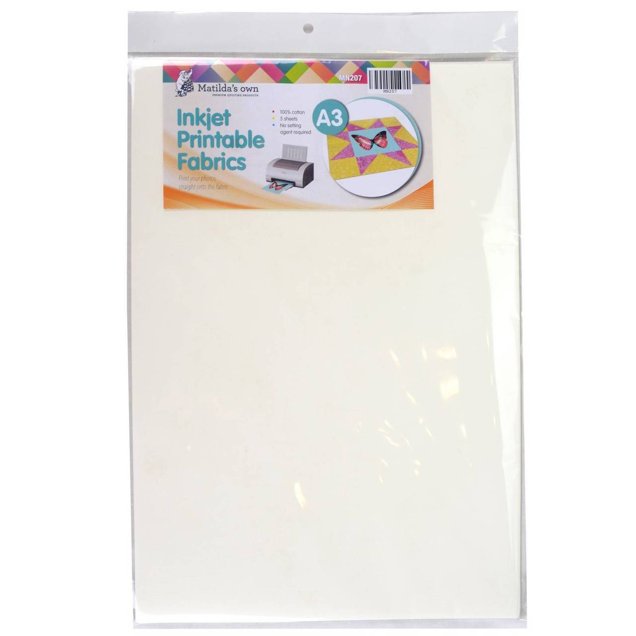 image regarding Printable Fabric Paper referred to as Inkjet Printable Cloth A3 5 sheets Matildas Particular