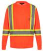 NRG Work Site Men's High Vis Long Sleeve - ORANGE