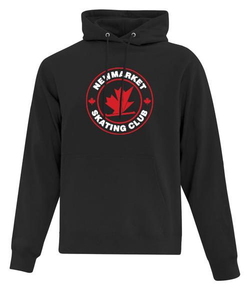Newmarket Skating Club Adult Fleece Hooded Sweatshirt - Black