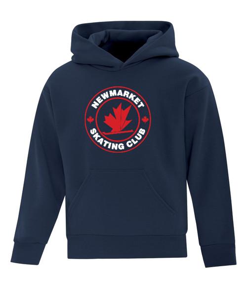 Newmarket Skating Club Youth Fleece Hooded Sweatshirt - Navy