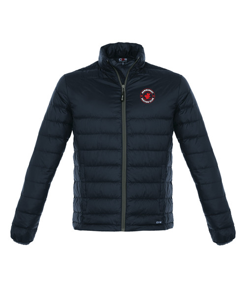 Newmarket Skating Club Adult Quilted Down Jacket - navy