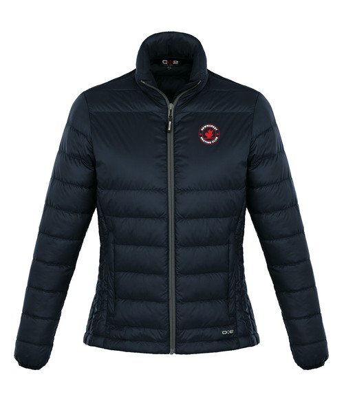 Newmarket Skating Club Womens Quilted Down Jacket - navy