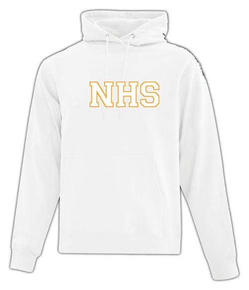 Newmarket High School White Hoody - White on Gold