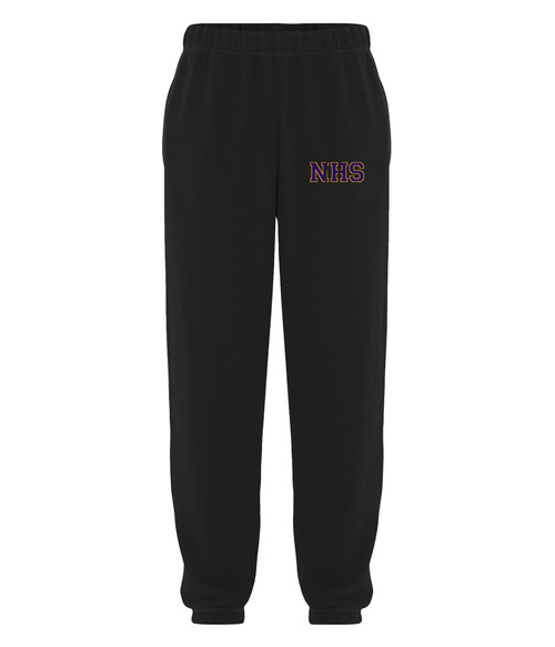 Newmarket High School Black Sweatpant - Purple on gold