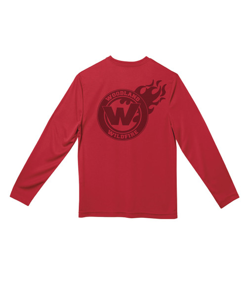 Woodland Wildfire Youth Laser Long Sleeve Tee