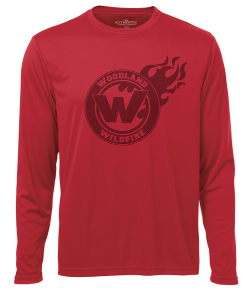 Woodland Wildfire Adult Laser Long Sleeve Tee