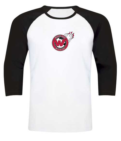 Woodland Wildfire Adult Long Sleeve Baseball Tee