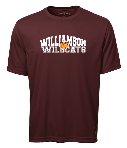 Williamson Wildcats Adult Type & Tiger Logo Short Sleeve Tee