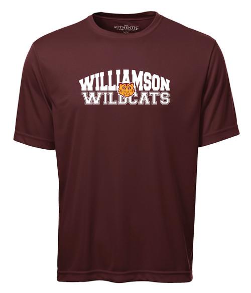 Williamson Wildcats Adult Type & Tiger Logo Short Sleeve Tee