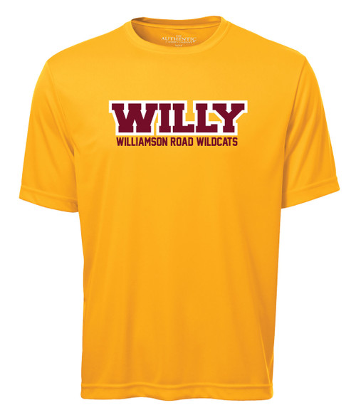 Williamson Wildcats Adult Willy Logo Short Sleeve Tee