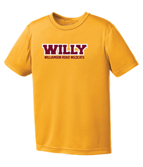 Williamson Wildcats Youth Willy Logo Short Sleeve Tee
