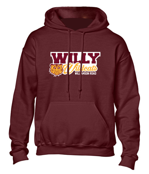 Williamson Wildcats Adult Willy Wildcats Logo Hoody