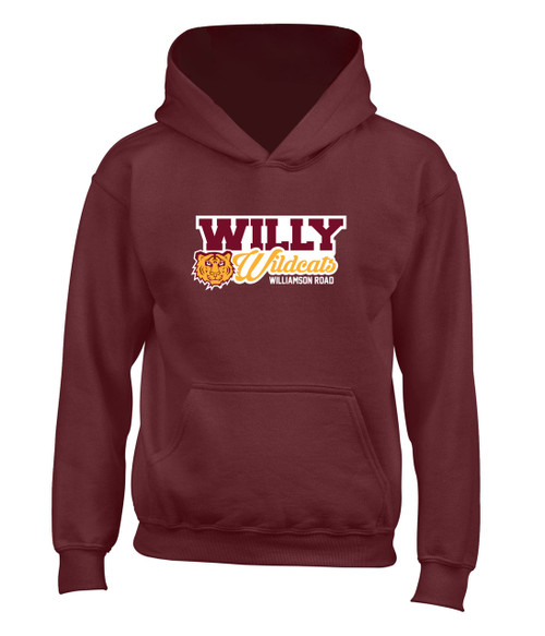 Williamson Wildcats Youth Willy Wildcats Logo Hoody