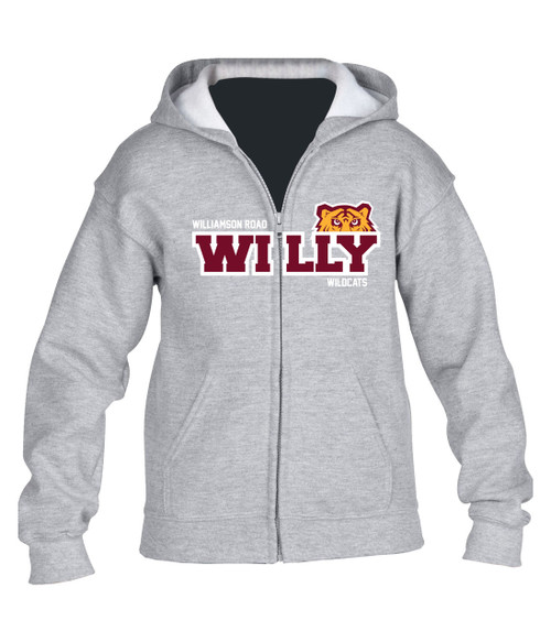 Williamson Wildcats Youth Willy Peeking Tiger Logo Hoody