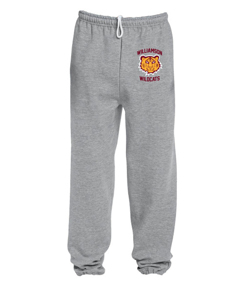 Williamson Wildcats Adult Tiger Head Logo Sweatpants