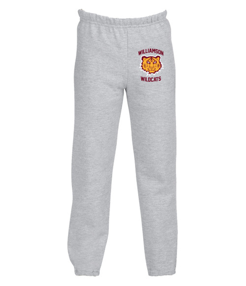 Williamson Wildcats Youth Tiger Head Logo Sweatpants