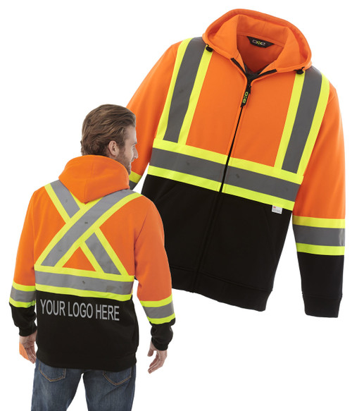 NRG Work Site Hi Vis Fleece Hoody