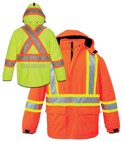 NRG Work Site Hi Vis Insulated Parka