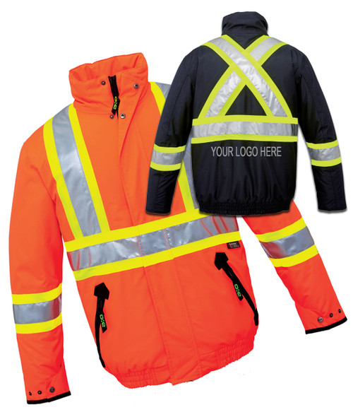 NRG Work Site High Vis Insulated Bomber