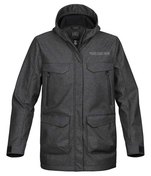 NRG Work Site Men's Storm Coat - CHARCOAL TWILL
