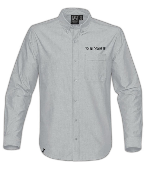 NRG Work Site Men's Dress Shirt - COOL SILVER
