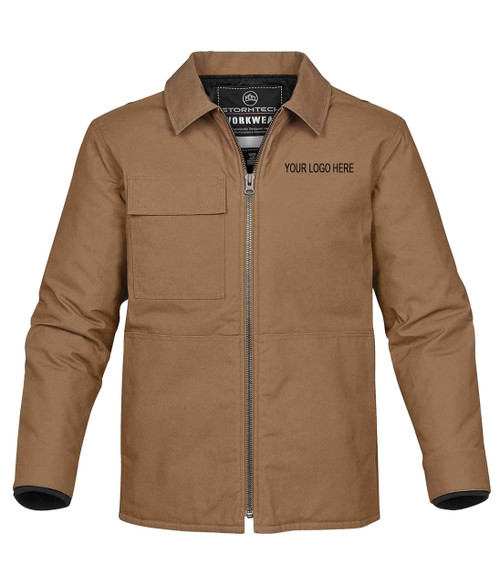 NRG Work Site Men's Zippered Jacket - TAN