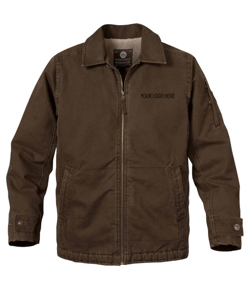 NRG Work Site Men's Roughneck Work Jacket - BROWN