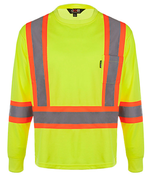 NRG Work Site Men's High Vis Long Sleeve - YELLOW