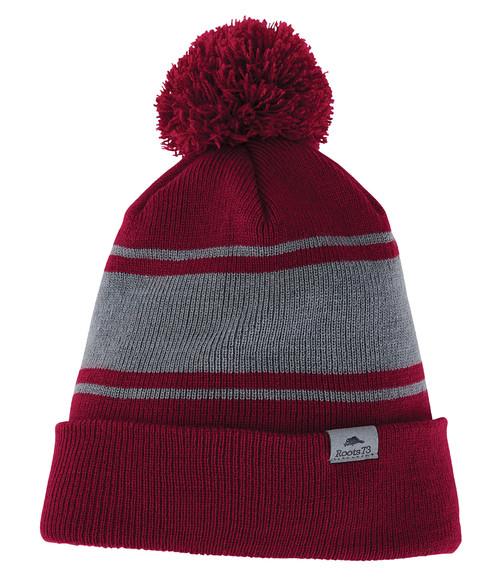 Seasonal Shop's Unisex PARKTRAIL ROOTS73 Knit Toque - Dark Red & Quarry
