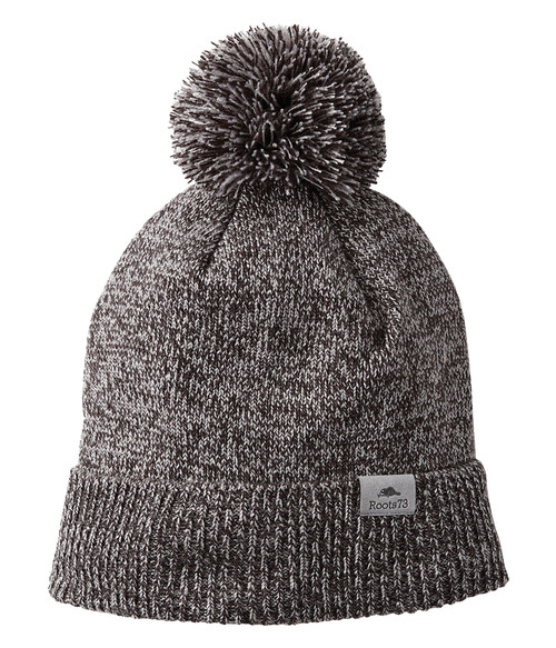 Seasonal Shop's Unisex SHELTY ROOTS73 Knit Toque - Dark Charcoal Mix