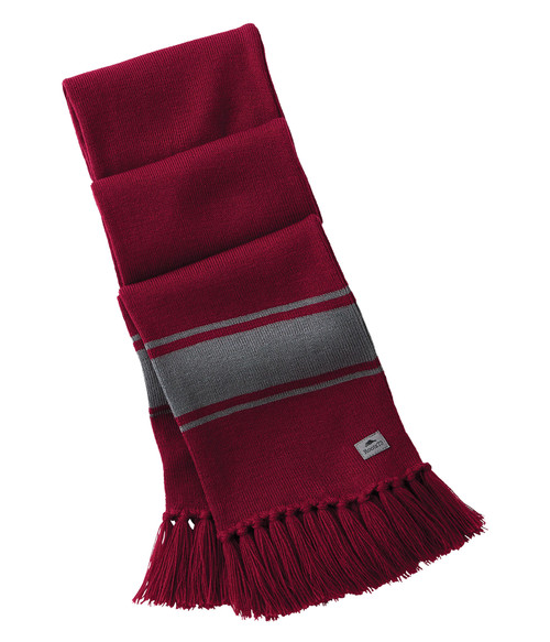 Seasonal Shop's Unisex BRANCHBAY ROOTS73 Knit Scarf - Dark Red & Quarry
