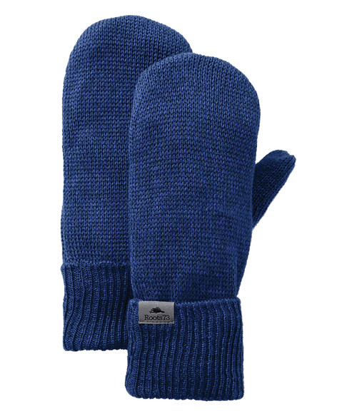 Seasonal Shop's Unisex MAPLELAKE ROOTS73 Knit Mitts - Ink Blue Heather