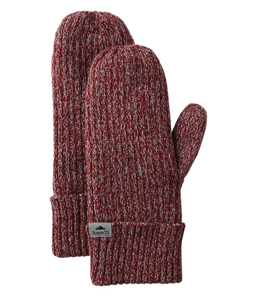 Seasonal Shop's Unisex WOODLAND ROOTS73 Mitts - Dark Red Heather