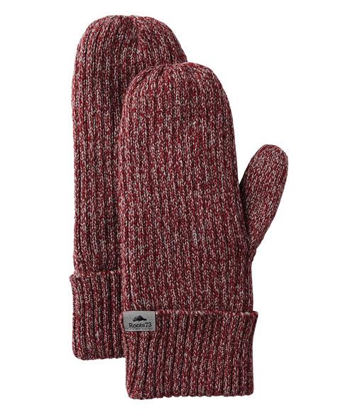 Seasonal Shop's Unisex WOODLAND ROOTS73 Mitts - Dark Red Heather